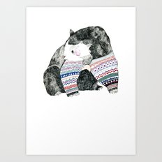 Knitted Bear Art Print