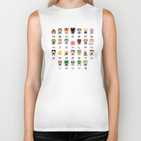 video games Biker Tanks featuring Video Games Pixel Alphabet by PixelPower