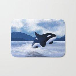 Whale Dancing Bath Mat