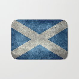 Scottish Flag - Vintage Retro Style Bath Mat