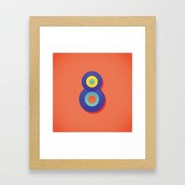 Alphabet Drop Caps Series- 8 Framed Art Print