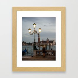 Venice at night Framed Art Print