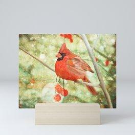 Cardinal Mini Art Print