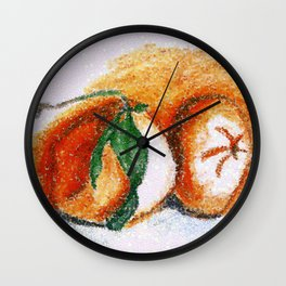 Sweet clementines Wall Clock