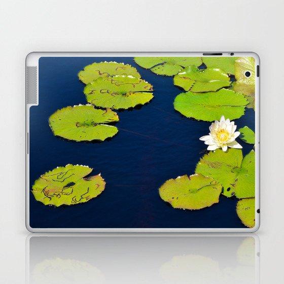 Dark Blue Pond by Teresa Thompson Laptop & iPad Skin
