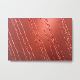 Red abstract awry chains Metal Print