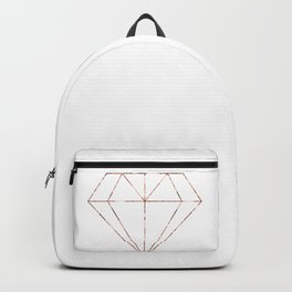 Rose gold foil diamond Backpack