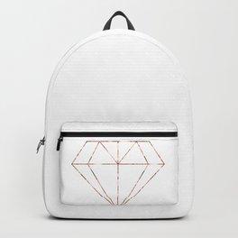 Rose gold foil diamond Backpack