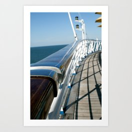 Ship Rail Art Print