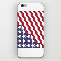 american flag iPhone & iPod Skins featuring American Flag by Mychal Diaz