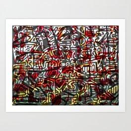 Red Maze Art Print