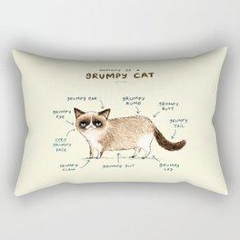 Anatomy of a Grumpy Kitty Rectangular Pillow