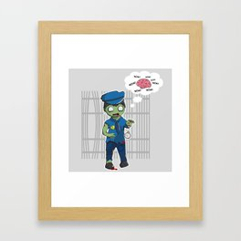 Zombie Police Framed Art Print