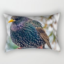 European Starling Rectangular Pillow