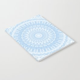 Baby Blue Boho Mandala Notebook