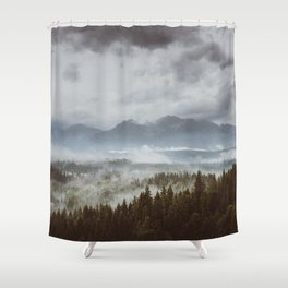 Misty mountains - Landscape and Nature Photography Shower Curtain