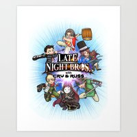 cryaotic Art Prints featuring Smash LNC by soo-da