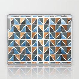 Gold Steel Ice geometric pattern Laptop & iPad Skin