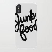 junk food iPhone & iPod Cases featuring Junk Food by mellani dejesus