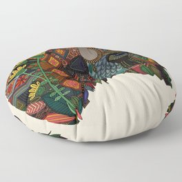 bison bone beige Floor Pillow