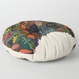 bison bone beige Floor Pillow