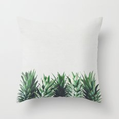 Pineapple Leaves Throw Pillow