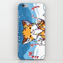 Happy Holidays From Little Fox And Bun iPhone Skin