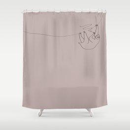 smoking sloth Shower Curtain