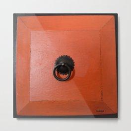 orange drawer  Metal Print