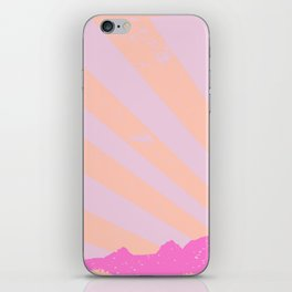 Town Rays Silhouette Grunge iPhone Skin