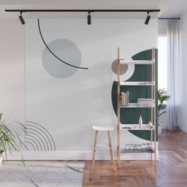 SPACCE 07// Geometric Pastel Minimalist Illustration by Wall Mural