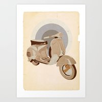 Vespa GS Art Print