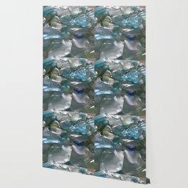 Ocean Hue Sea Glass Assortment Wallpaper