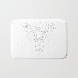 Geometric trinity mandala Bath Mat