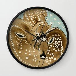 Fawns Wall Clock