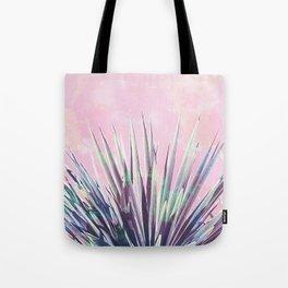 Vintage Yucca Palm - Pink Tote Bag