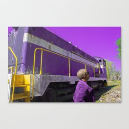 Purple, and other colors of existence Canvas Print