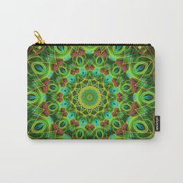 Peacock feathers Mandala Carry-All Pouch