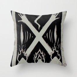 Banishment (Black) Throw Pillow
