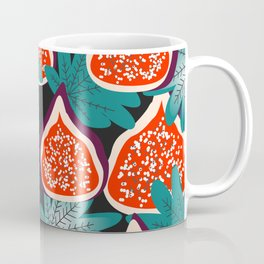Colorful figs and leaves Coffee Mug
