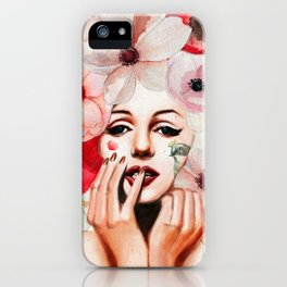 Queen of flowers monroe iPhone Case