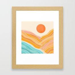 Adventure On The Horizon / Abstract Landscape Framed Art Print