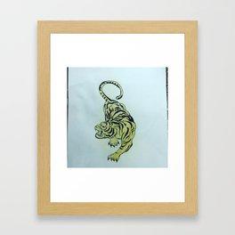 Kwaade tyger Framed Art Print