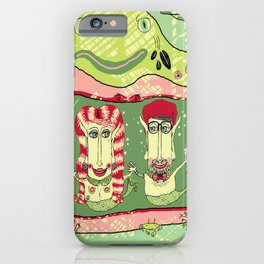 Sea Home of the Hipster Mer-Couple iPhone Case