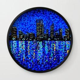 Perth Evening Blues Wall Clock