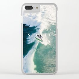 STOKED Surf Aerial Clear iPhone Case