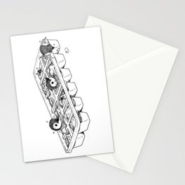 Penguins hatching from an ice cube tray Stationery Cards