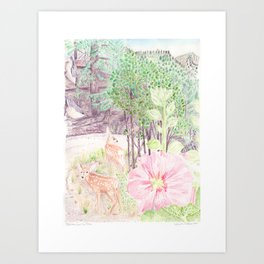 Southwest Colorado watercolor, The View from Our Place Art Print