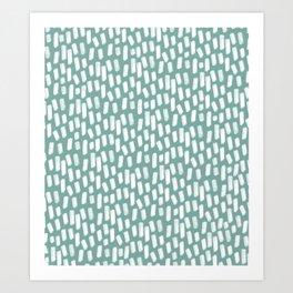 Paint Strokes | Teal Art Print