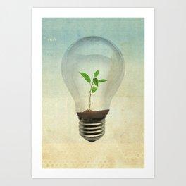 green ideas Art Print